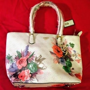 NWT GUESS Linea Floral Tote and Matching Wallet